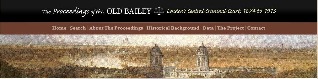 Blog 12 – The Proceedings of the Old Bailey